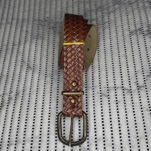 Brown Leather Belt - Size S